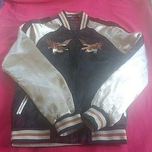 Zara man jacket 2 embroidered eagle